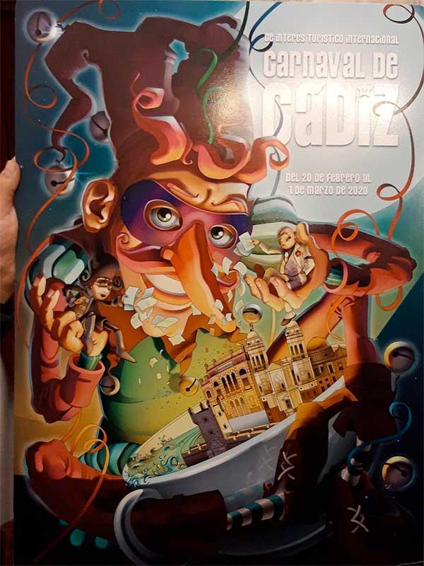 Affiche du Carnaval de Cadiz signée Antonio Vela Oliva